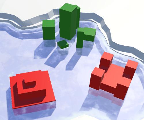 Карты из шестиугольников в Unity: вода, объекты рельефа и крепостные стены - 146