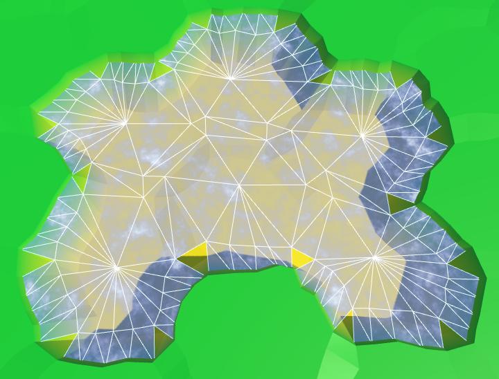 Карты из шестиугольников в Unity: вода, объекты рельефа и крепостные стены - 16