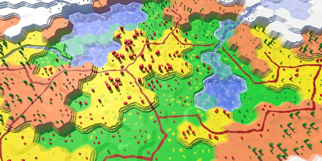 Карты из шестиугольников в Unity: вода, объекты рельефа и крепостные стены - 54