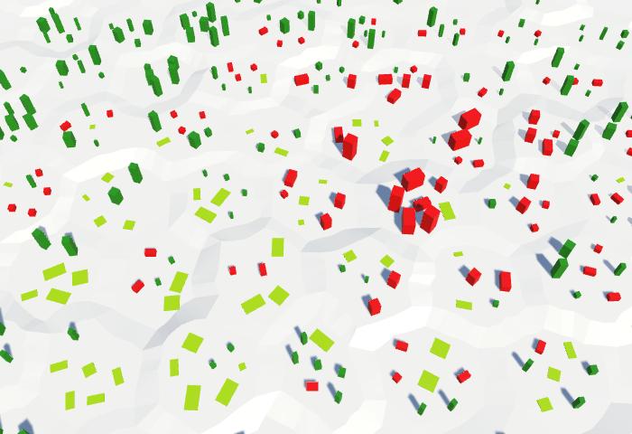 Карты из шестиугольников в Unity: вода, объекты рельефа и крепостные стены - 82