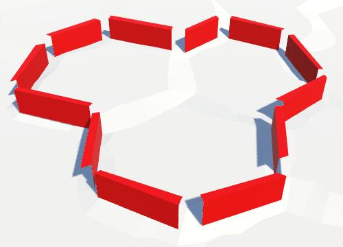 Карты из шестиугольников в Unity: вода, объекты рельефа и крепостные стены - 93