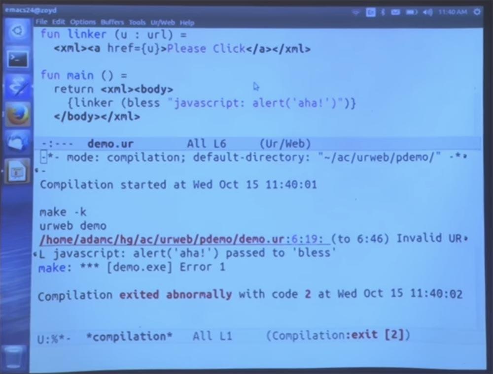 Курс MIT «Безопасность компьютерных систем». Лекция 11: «Язык программирования Ur-Web», часть 2 - 10