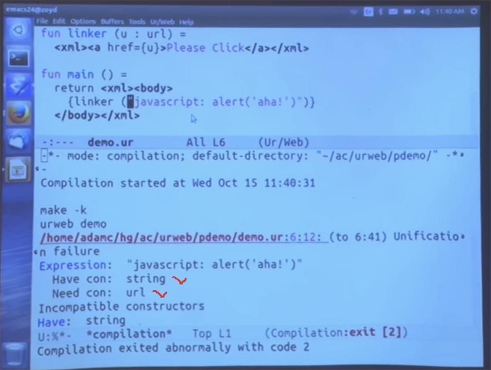 Курс MIT «Безопасность компьютерных систем». Лекция 11: «Язык программирования Ur-Web», часть 2 - 11
