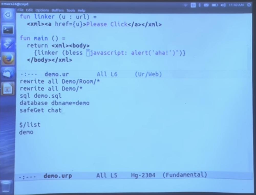 Курс MIT «Безопасность компьютерных систем». Лекция 11: «Язык программирования Ur-Web», часть 2 - 12