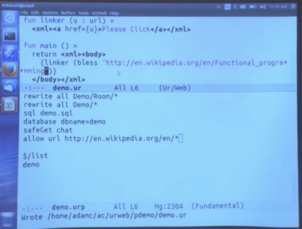 Курс MIT «Безопасность компьютерных систем». Лекция 11: «Язык программирования Ur-Web», часть 2 - 13
