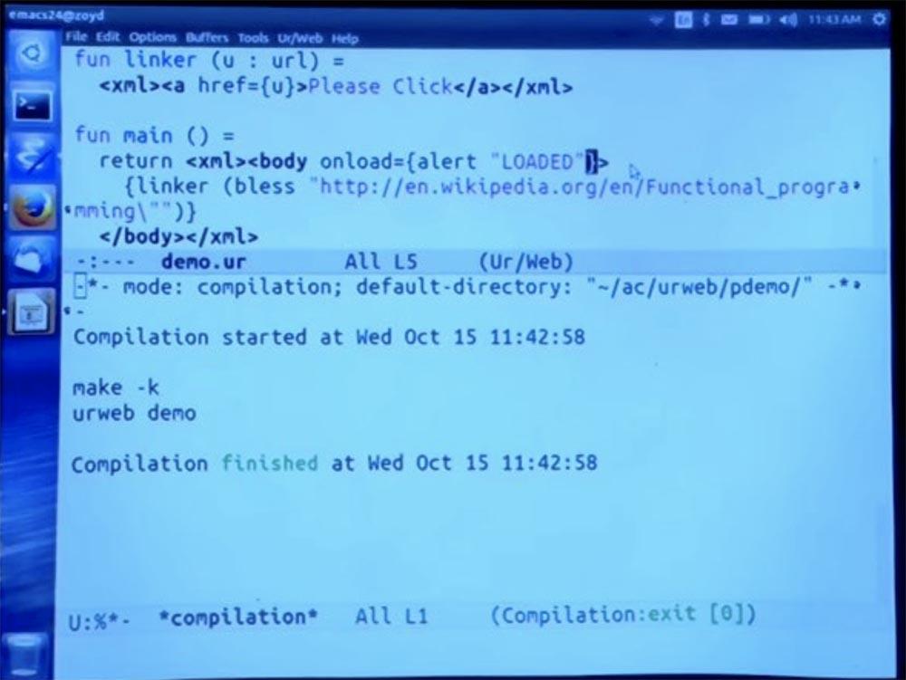 Курс MIT «Безопасность компьютерных систем». Лекция 11: «Язык программирования Ur-Web», часть 2 - 16