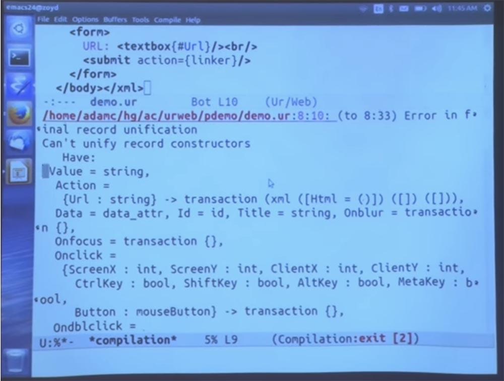 Курс MIT «Безопасность компьютерных систем». Лекция 11: «Язык программирования Ur-Web», часть 2 - 18