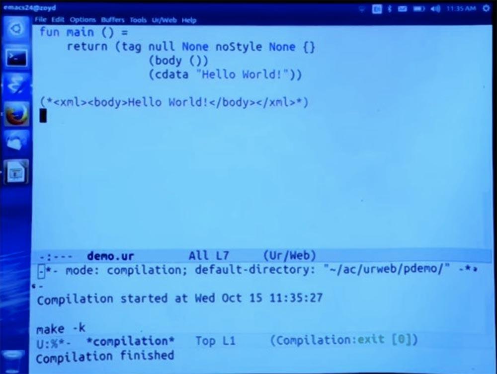 Курс MIT «Безопасность компьютерных систем». Лекция 11: «Язык программирования Ur-Web», часть 2 - 2