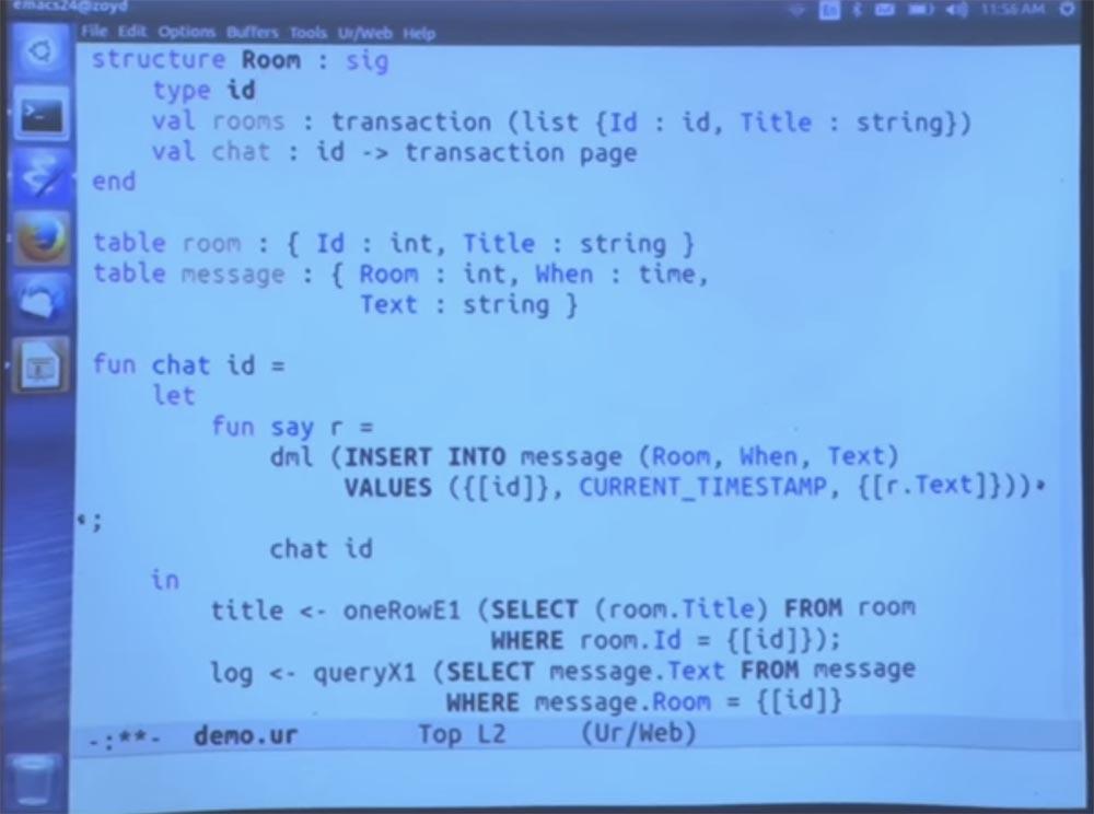 Курс MIT «Безопасность компьютерных систем». Лекция 11: «Язык программирования Ur-Web», часть 2 - 30