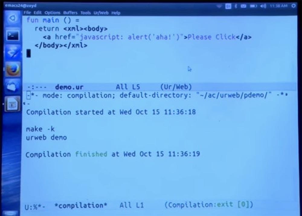 Курс MIT «Безопасность компьютерных систем». Лекция 11: «Язык программирования Ur-Web», часть 2 - 7