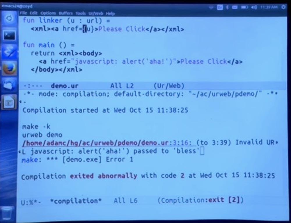 Курс MIT «Безопасность компьютерных систем». Лекция 11: «Язык программирования Ur-Web», часть 2 - 9