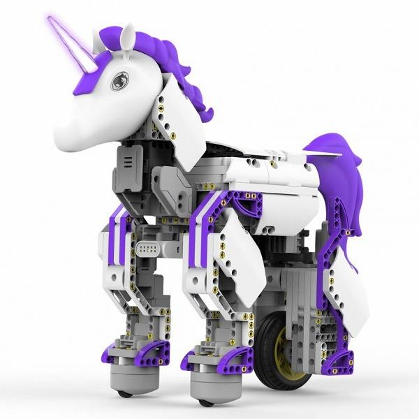 Робот UnicornBot имеет фиолетовый хвост и программируемый рог