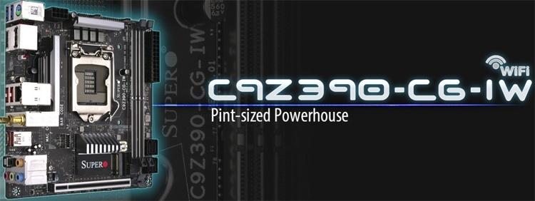 SuperO C9Z390-CG-IW: плата для компактных систем на платформе Intel Z390