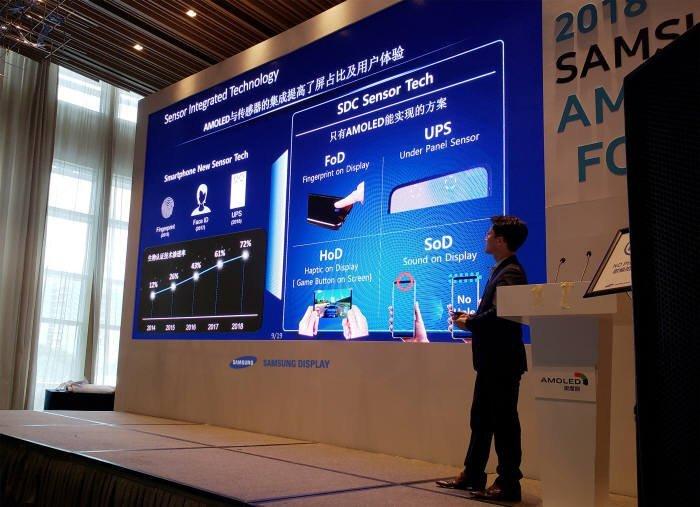 Samsung показала экран без «брови» для флагманского Galaxy S10