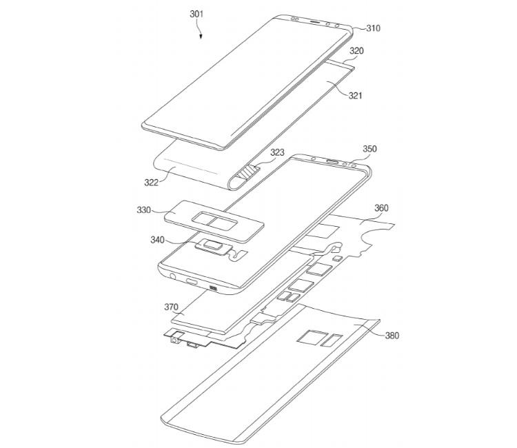 Samsung патентует экранный дактилоскопический сканер для смартфонов