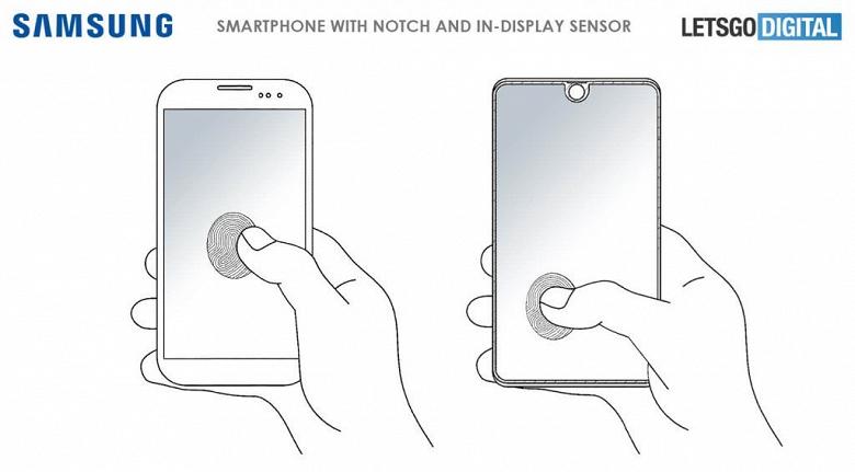 Samsung Galaxy S10 сможет распознавать отпечатки пальцев в любой точке экрана