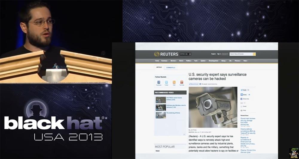 Конференция BLACK HAT USA. Как Голливудский хакер использует камеры наблюдения. Часть 1 - 1