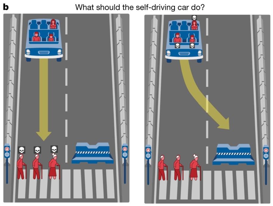 Кого давить беспилотному автомобилю: результаты эксперимента Moral Machine - 1