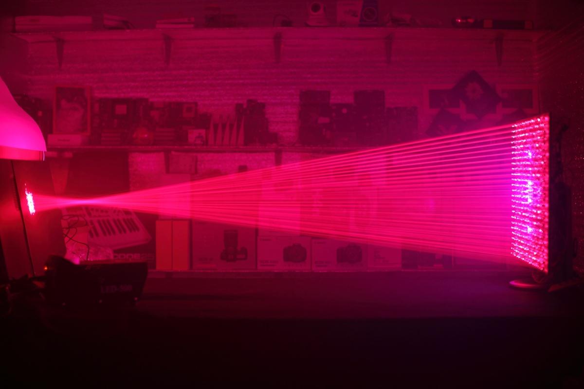 500 лазерных указок в одно место - 15