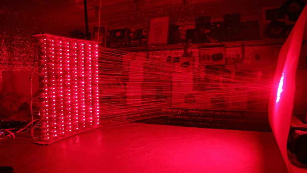 500 лазерных указок в одно место - 7
