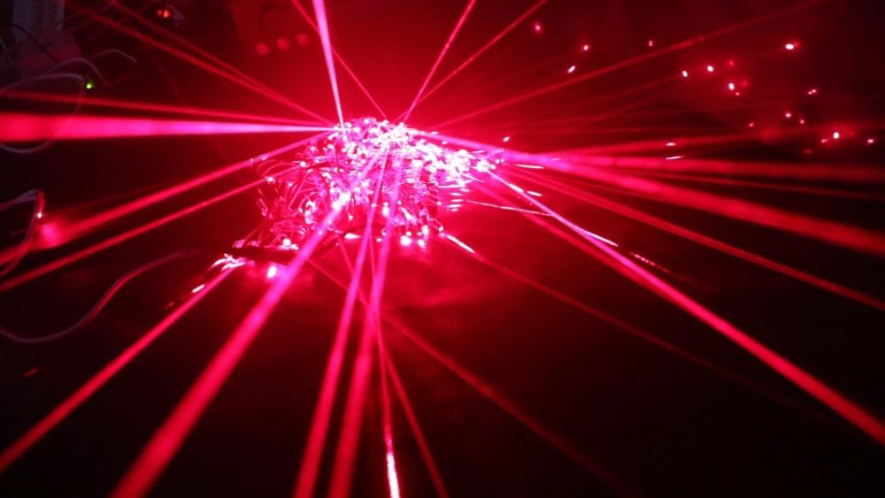 500 лазерных указок в одно место - 8