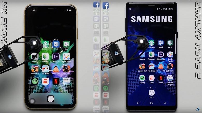 Самый дешёвый iPhone 2018 года обогнал в тесте на быстродействие самый мощный смартфон Samsung