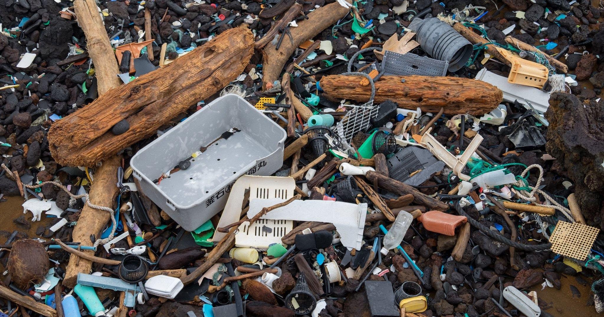 Из чего состоит Большое тихоокеанское мусорное пятно