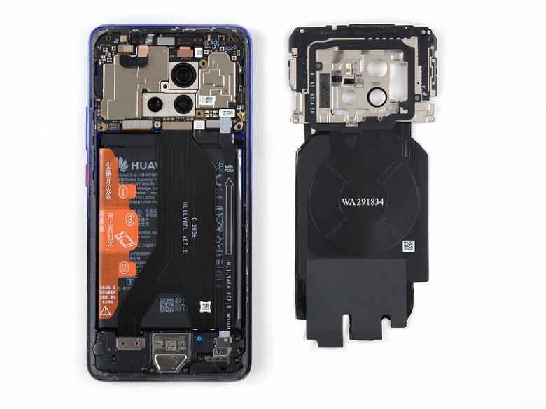 Флагманский смартфон Huawei Mate 20 Pro получил 4 балла из 10 за ремонтопригодность