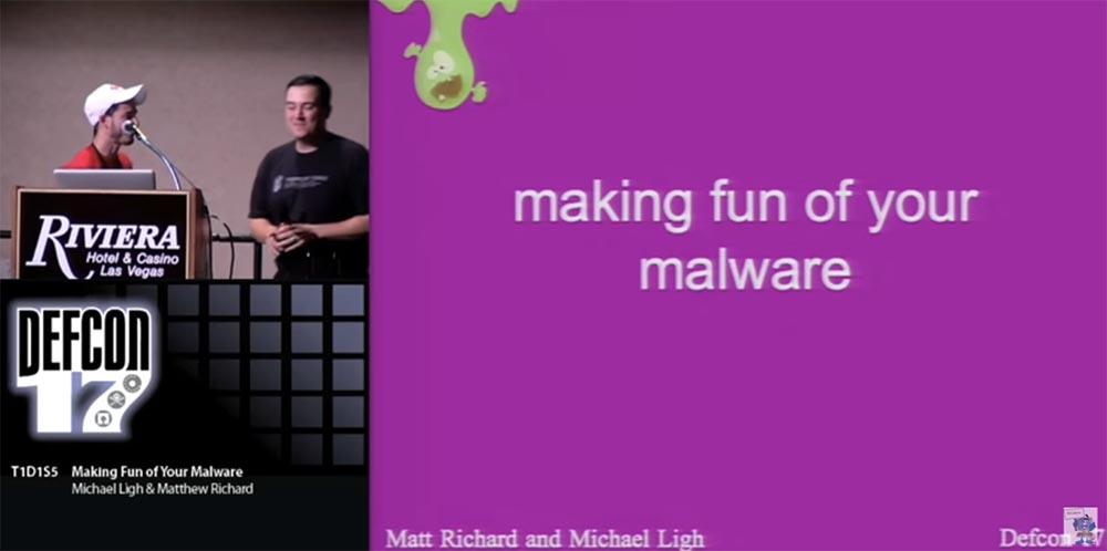 Конференция DEFCON 17. Посмеёмся над вашими вирусами! Часть 1 - 1