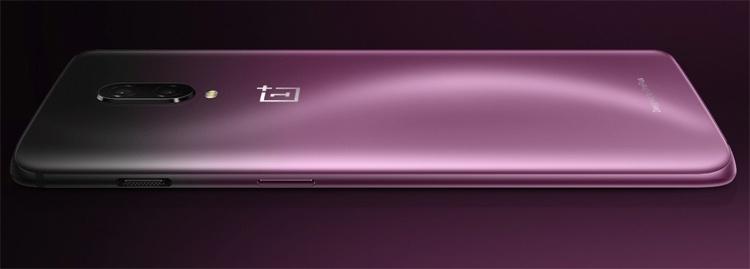 Мощный смартфон OnePlus 6T предстал в оригинальном цвете Thunder Purple