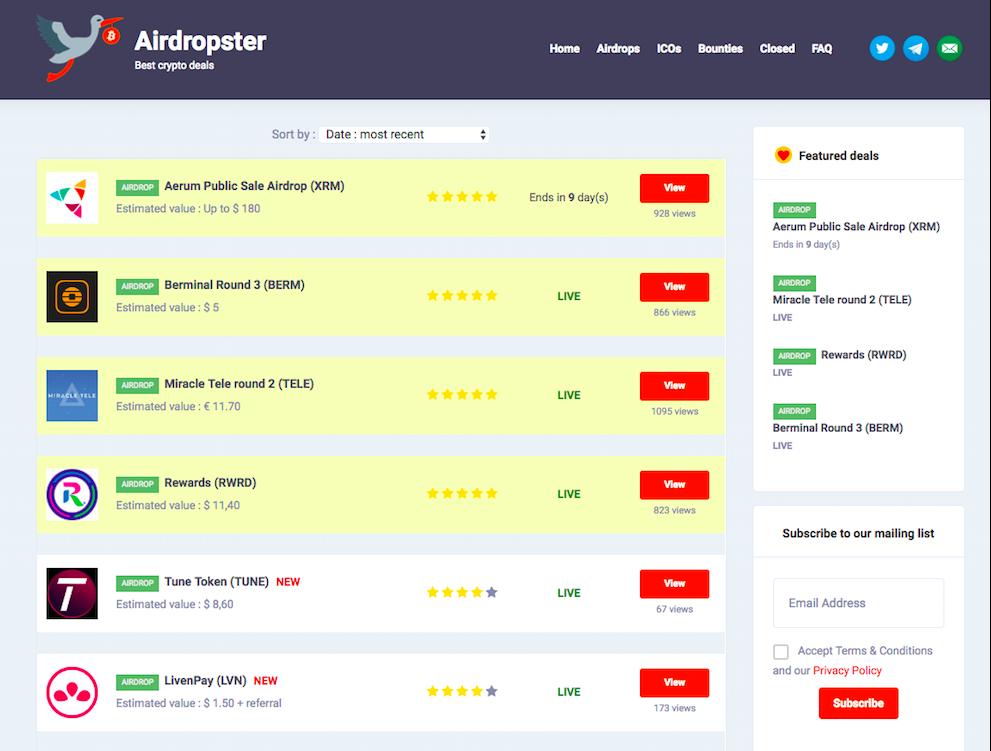 Обзор популярных крипто airdrop платформ - 10