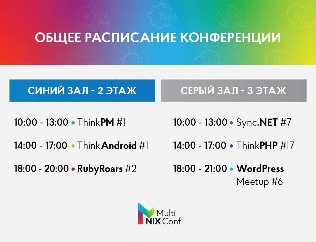 Большая конференция NIXMultiConf (Харьков) - 2