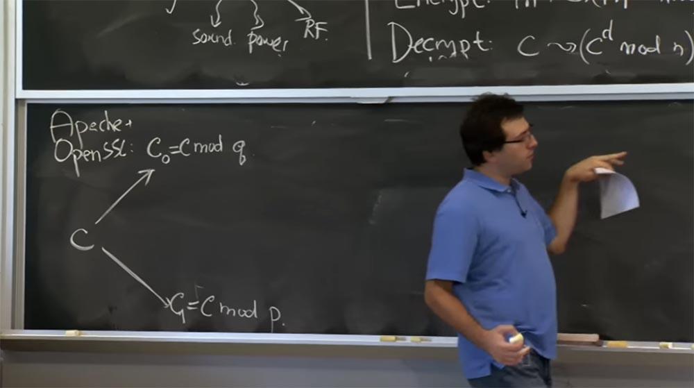 Курс MIT «Безопасность компьютерных систем». Лекция 16: «Атаки через побочный канал», часть 3 - 3