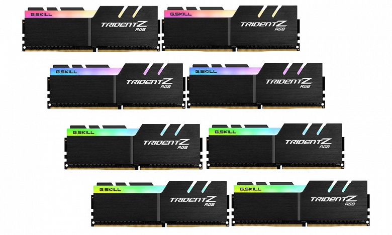 Компания G.Skill анонсировала продажи наборов модулей памяти DDR4-4266 объемом 64 ГБ и DDR4-4000 объемом 128 ГБ