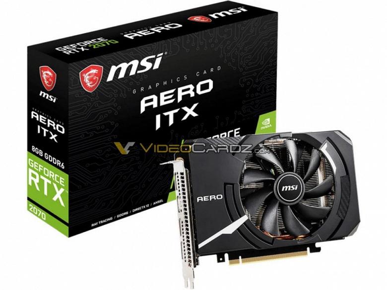 MSI GeForce RTX 2070 Aero ITX — самая компактная видеокарта семейства Nvidia Turing