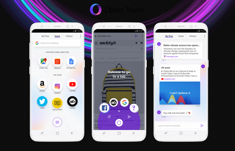 Браузер Opera Touch получил приватный режим