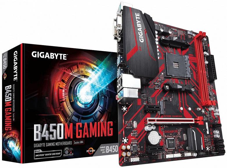 Gigabyte B450M Gaming — недорогая плата типоразмера microATX с процессорным гнездом AM4