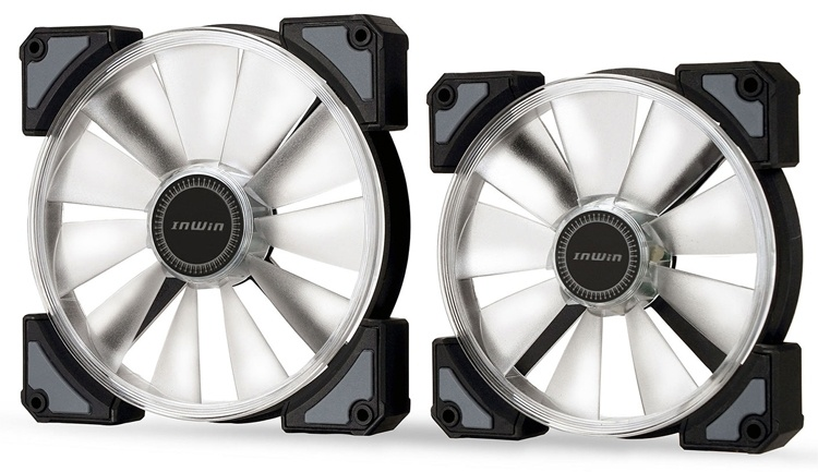 In Win Crown: вентиляторы охлаждения с многоцветной подсветкой
