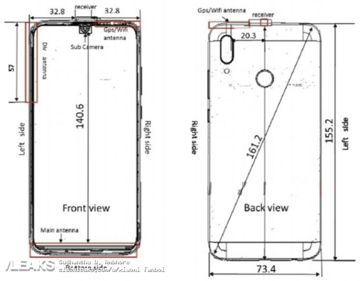 Появились изображения смартфона Huawei P Smart (2019)