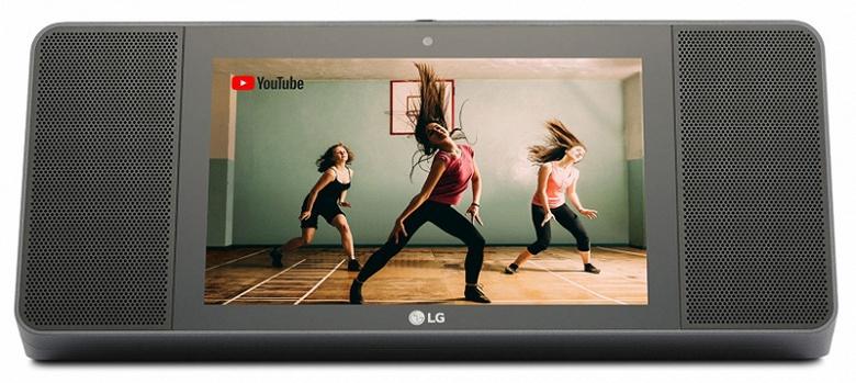 LG XBOOM AI ThinQ WK9 — умная беспроводная колонка с 8-дюймовым сенсорным экраном и голосовым помощником Google Assistant
