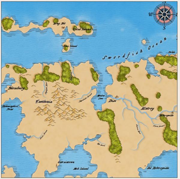 Как я создавал карты континентов для своей игры - 17