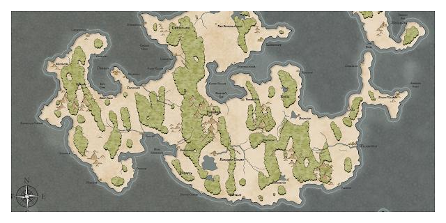 Как я создавал карты континентов для своей игры - 35