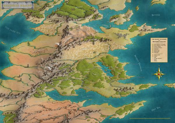 Как я создавал карты континентов для своей игры - 36