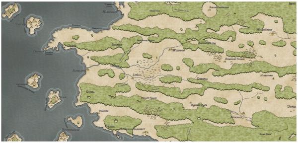 Как я создавал карты континентов для своей игры - 37