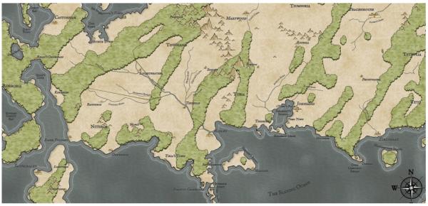 Как я создавал карты континентов для своей игры - 41
