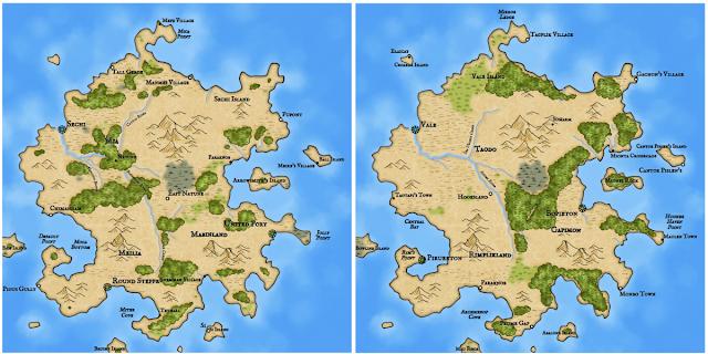 Как я создавал карты континентов для своей игры - 67