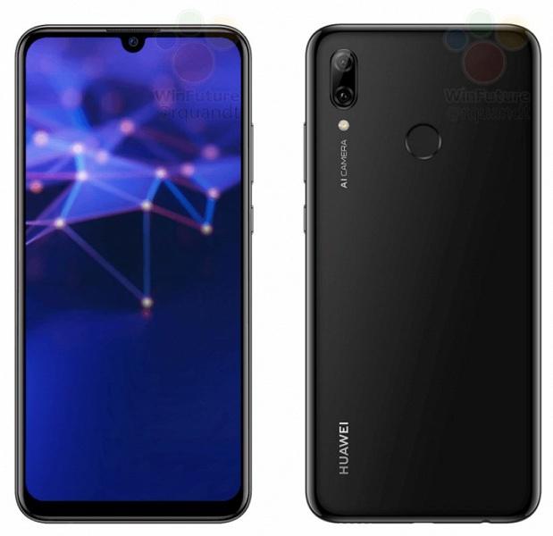 Бюджетный камерофон Huawei P Smart (2019) позирует на официальных рендерах, характеристики и цена тоже уже известны