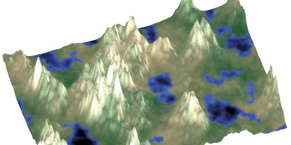 Создание карт из функций шума - 1