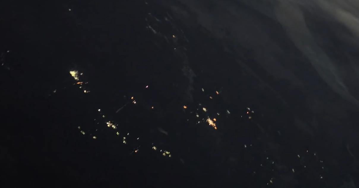 Старт «Прогресса» показали в красочном таймлапсе, снятом с МКС