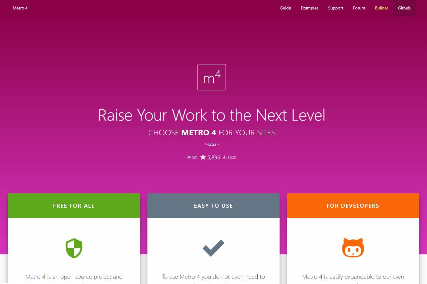Metro 4 — путь длиною в 6 лет. Краткая история Metro UI CSS - 6